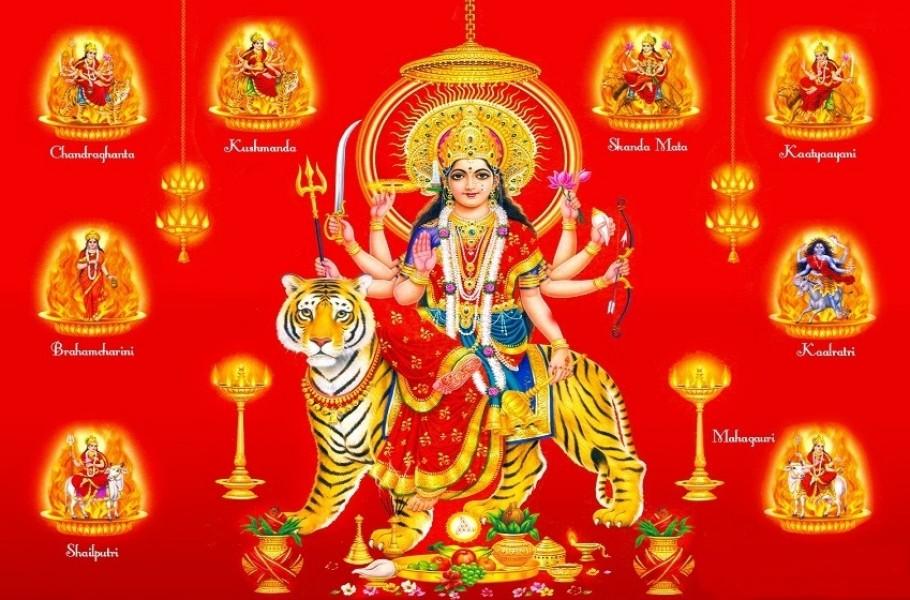 Vasant Chaitra Navratri Ghatasthapana 9 Nine Nav Durga - Maa Shailputri, Brahmacharini, Chandraghanta, Kushmanda, Skandamata, Katyayani, Kalaratri, Mahagauri Puja hd Wallpapers, Images, Pictures, Photos, Vector, Graphics, Pics, FB Facebook Covers