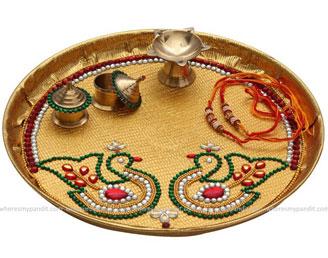 Raksha Bandhan Special Rakhi Thali - Bird Design Rakhi Thali